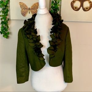Adrianna Papell   green blazer size 14